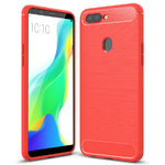 Flexi Slim Carbon Fibre Case for Oppo R11s Plus - Brushed Red